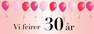 Vi feirer 30 år!